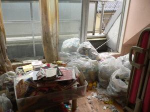 川口市 女性の部屋のゴミ処分