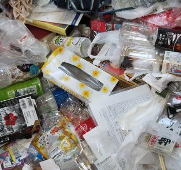 ゴミが散乱した部屋